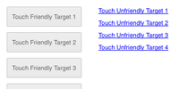 Touch Friendly Target